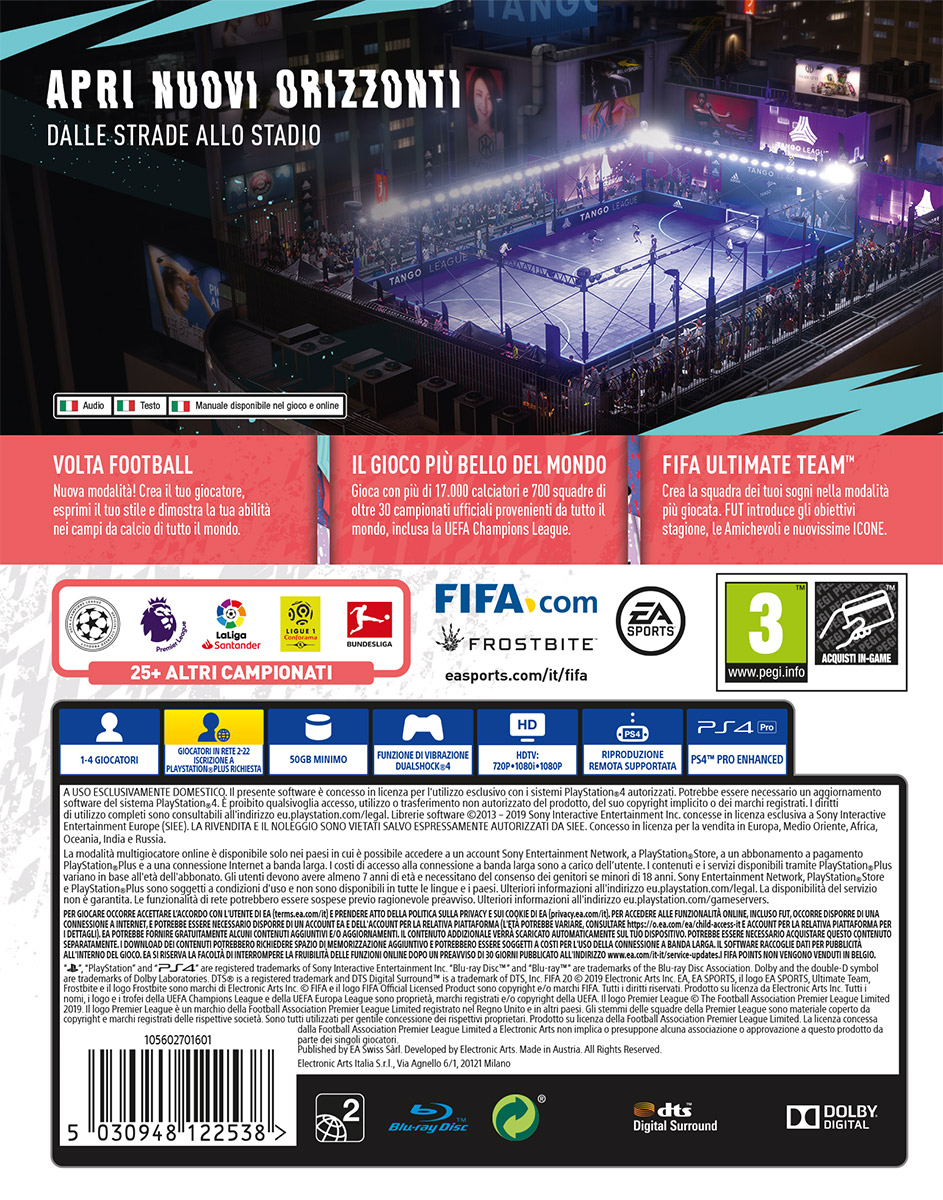 Details Zu Fifa 20 Fussball 2020 Ps4 Playstation 4 Electronic Arts