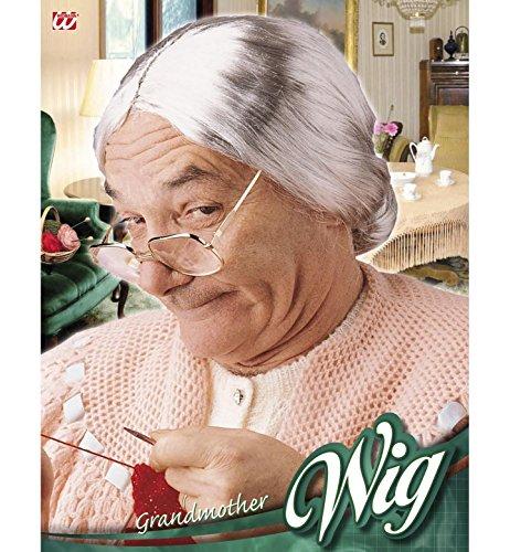 Granny-Wig-for-Hair-Accessory-Fancy-Dress-WIDMANN miniature 2