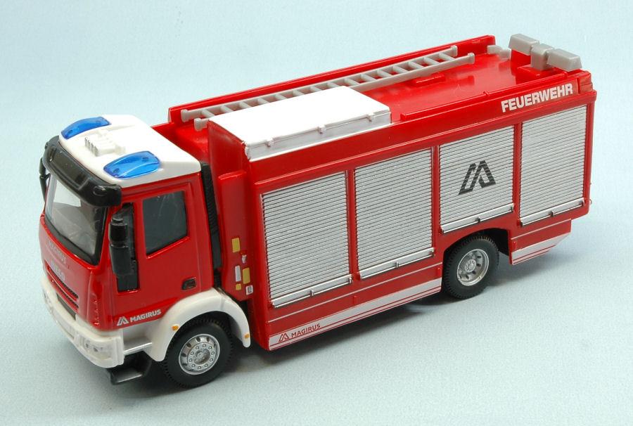 Iveco Magirus Feuerwehr Deutschland 1//50 Bburago Modell Auto mit oder ohne ind..