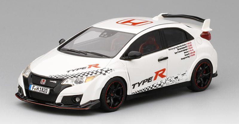 Honda Civic Type R 2016 Five European Tracks Front-wheel Drive Record 1:43 Model | Outlet Online Shop
