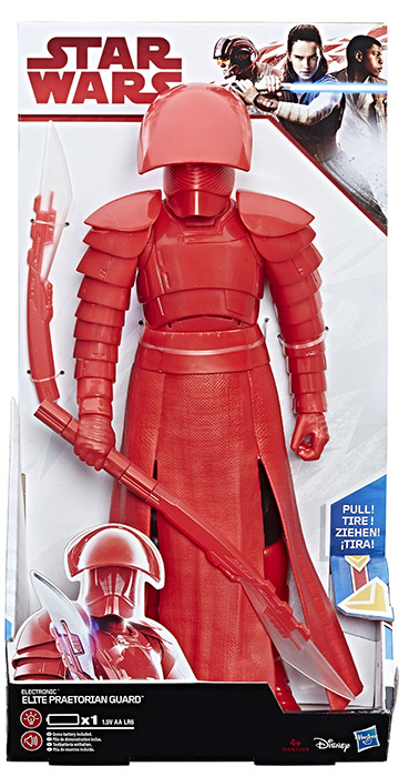 STAR WARS Last Jedi Electronic Duel Elite Pretorian Guard 12' Action Figure