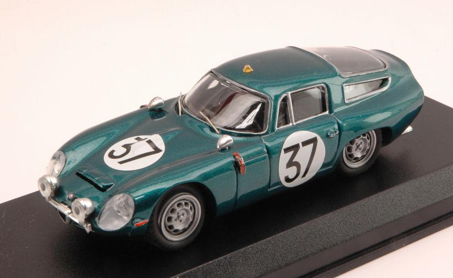 Alfa Romeo Tz1  37 Le Mans Test 1964 Bussinello   Biscaldi 1 43 Model