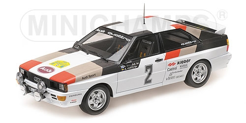 Audi Quattro Sport Mikkola Hertz Winners International Swedish Rally 1981 1:18