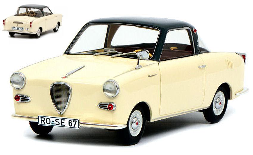 Goggomobile Coupe 'Ts 250 1957 Crème 1:18 Modèle 0109 Schuco