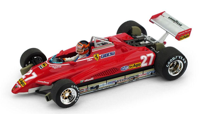 Ferrari 126 C2 G. Villeneuve 1982  27 Brazil GP  Pilota Limited 250 pcs 1 43
