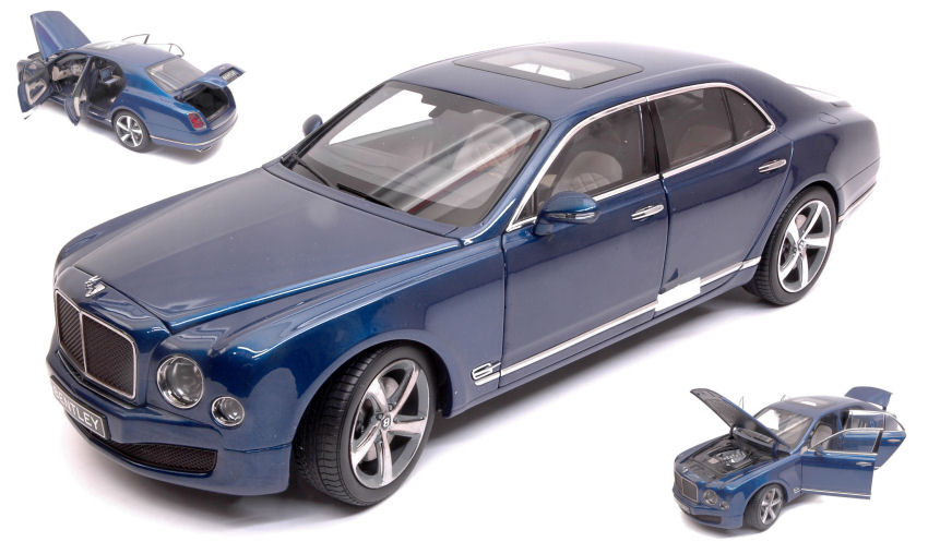 Illuminez le cadeau de Noël en Irak. Bentley Mulsanne Speed 2010 Marlin Blue Kyosho 1:18 Model NOREV | New Style,En Ligne