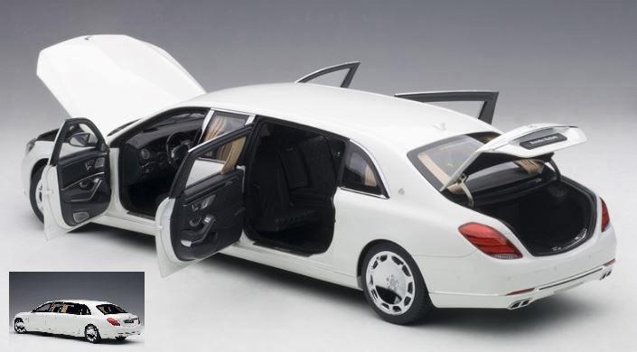 Mercedes Maybach S 600 Pullman 2016 Blanc / Gris Foncé 1:18 Modèle 76296 Autoart