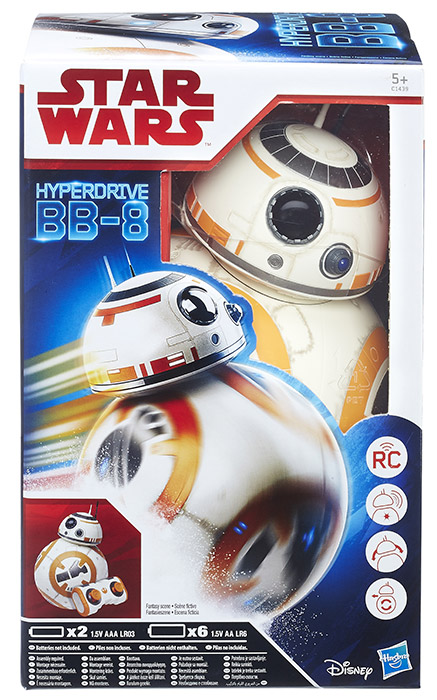 Star Wars Episode 8 The Last Jedi Hyperdrive bb-8 Droid Deluxe Remote Controlled