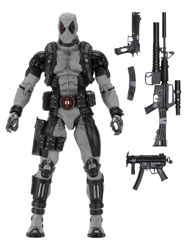Deadpool 18' X-Force Deadpool 1/4 Scale Action Figure NECA